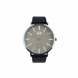 Wristwatch silver colored