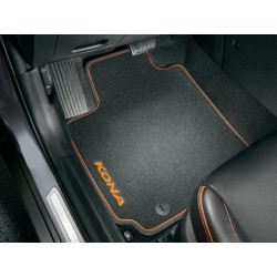 Floor mats, velour with...